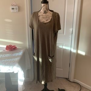 Eileen Fisher casual dress with pockets!! Size LG